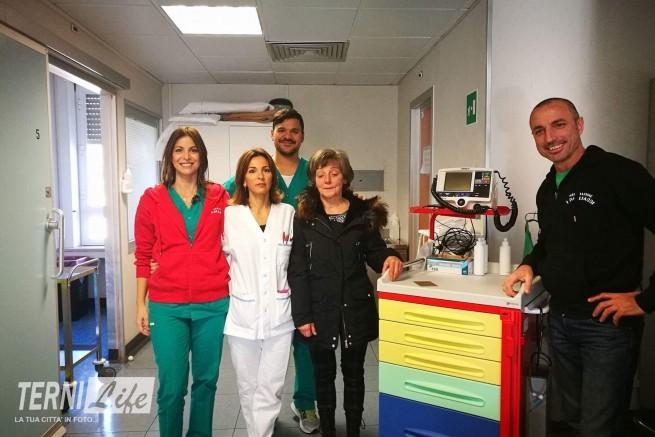 "Terni Life: Due Nuovi Carrelli Per Le Emergenze Al Santa Maria Grazie A ""I Pagliacci""."