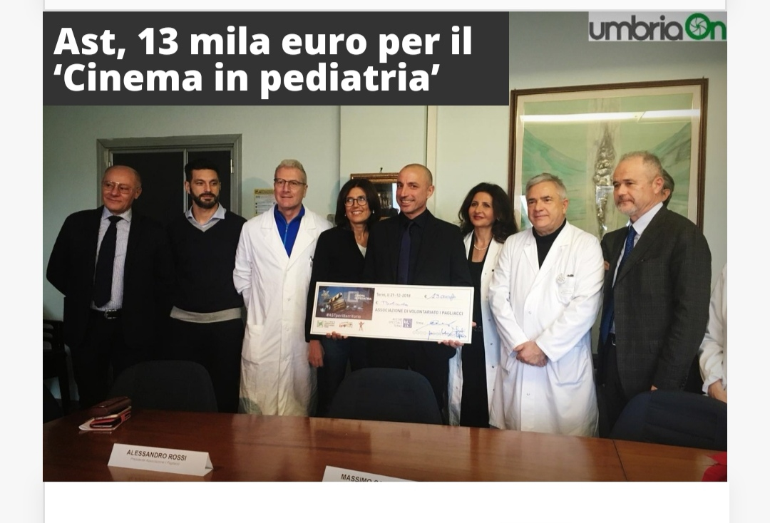 Umbriaon: Ast, 13 Mila Euro Per Il 'Cinema In Pediatria'