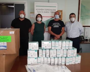 Umbriaon: All'ospedale Di Terni Mascherine E Camici Donati Da 'I Pagliacci